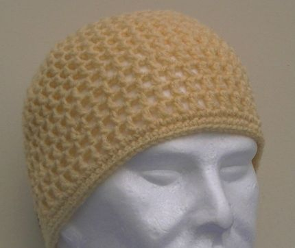 Mesh Hat With Single Crochet Edging Newborn To Adult By