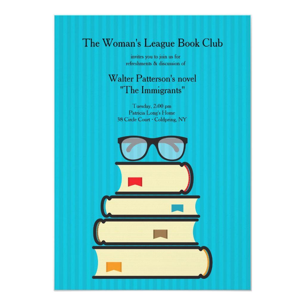 Book Club Invitation Zazzle Com In 2021 Book Club Club Poster Books