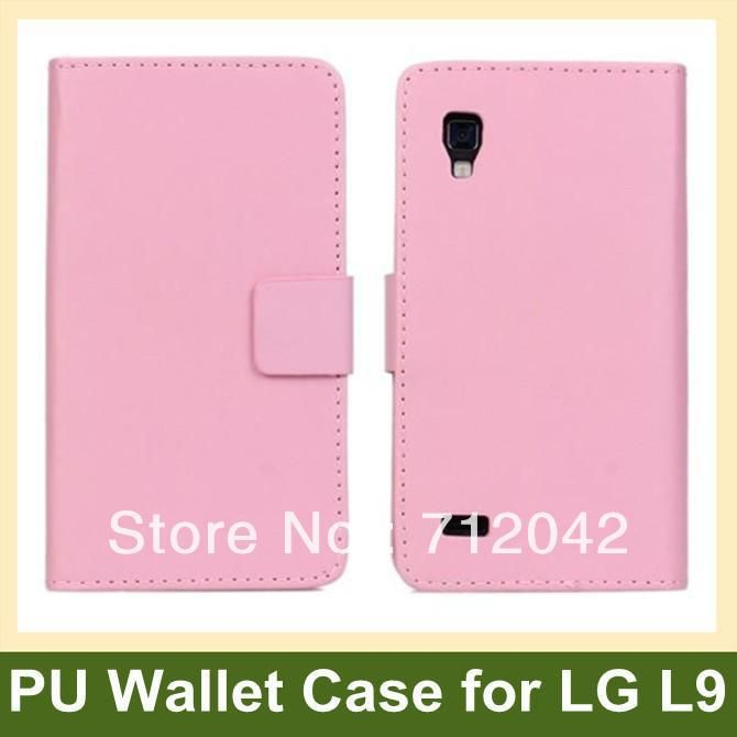 Multicolor PU Leather Flip Cover Case for LG P760(Optimus L9) Wallet Case for LG L9 P760 Free Shipping
