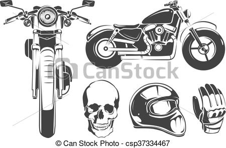Elements For Vintage Vector Motorcycle Labels Vector Stock Illustration Royalty F Motorcycle Helmet Design Motorcycle Helmets Vintage Retro Motorcycle Bikes