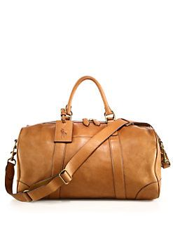 72850c73becb Polo Ralph Lauren - Leather Duffel Bag Mens Travel Bag