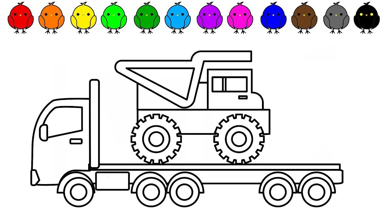 Dump Truck Colouring Pages For Kids Construction Vehicles Coloring Book Coloring Pages For Kids Truck Coloring Pages Cars Coloring Pages