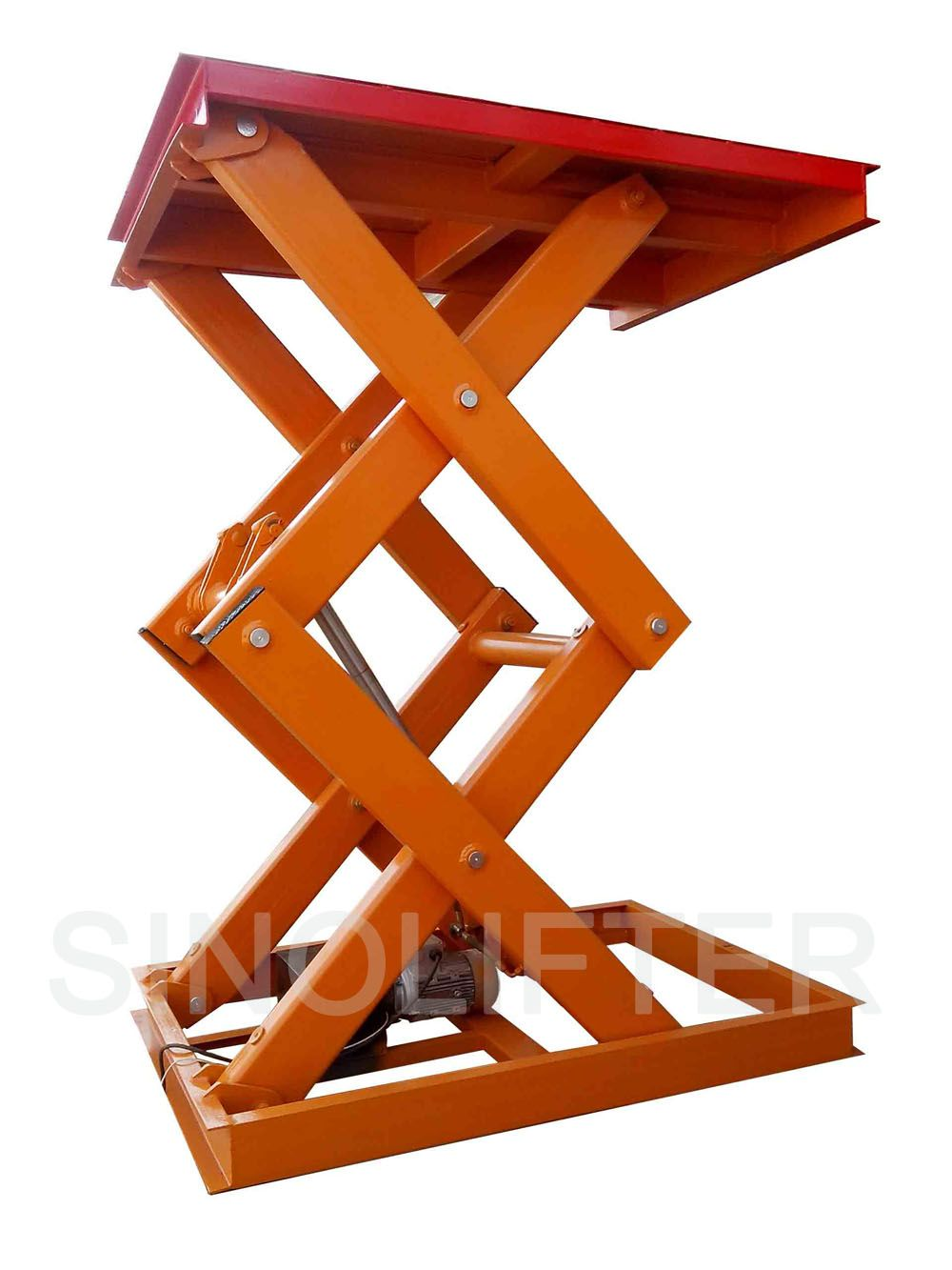 Material Lift Scissors Type With 2500kg Capacity 2m