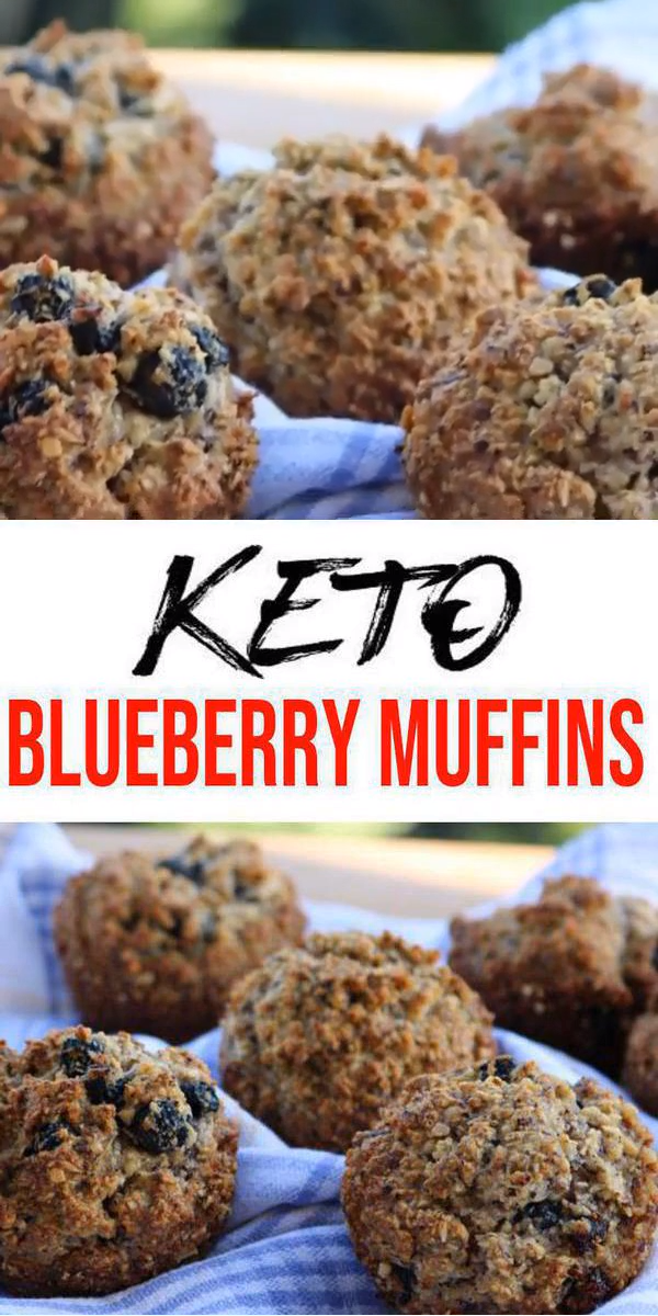 BEST Keto Muffins! Low Carb Keto Blueberry Muffin Idea – Quick & Easy Ketogenic Diet Recipe – Completely Keto Friendly images