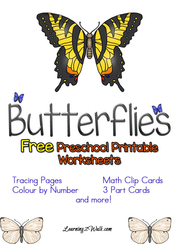 Free Butterflies Preschool Printable Worksheets Free Preschool