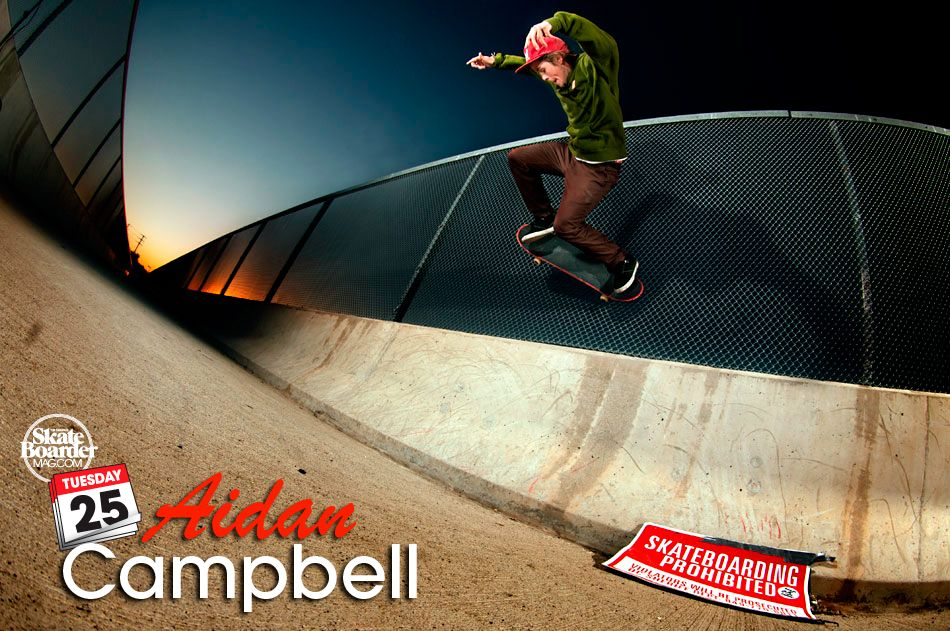 The Tuesday 25 with Aidan Campbell Skateboard