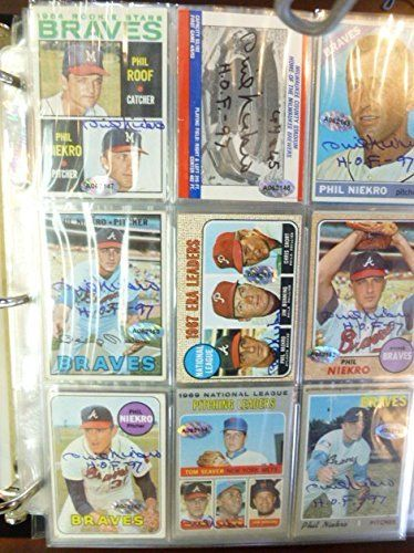 Phil Niekro Complete Autographed Collection 270 Items *** Click image to review more details.