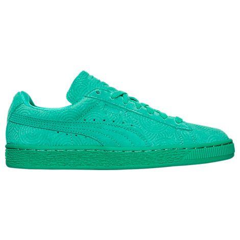 PUMA WOMEN'S SUEDE CLASSIC CASUAL SHOES, GREEN. #puma #shoes #