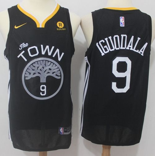 79cbc362a1c Nike Warriors  9 Andre Iguodala Black Statement Edition NBA Swingman Jersey