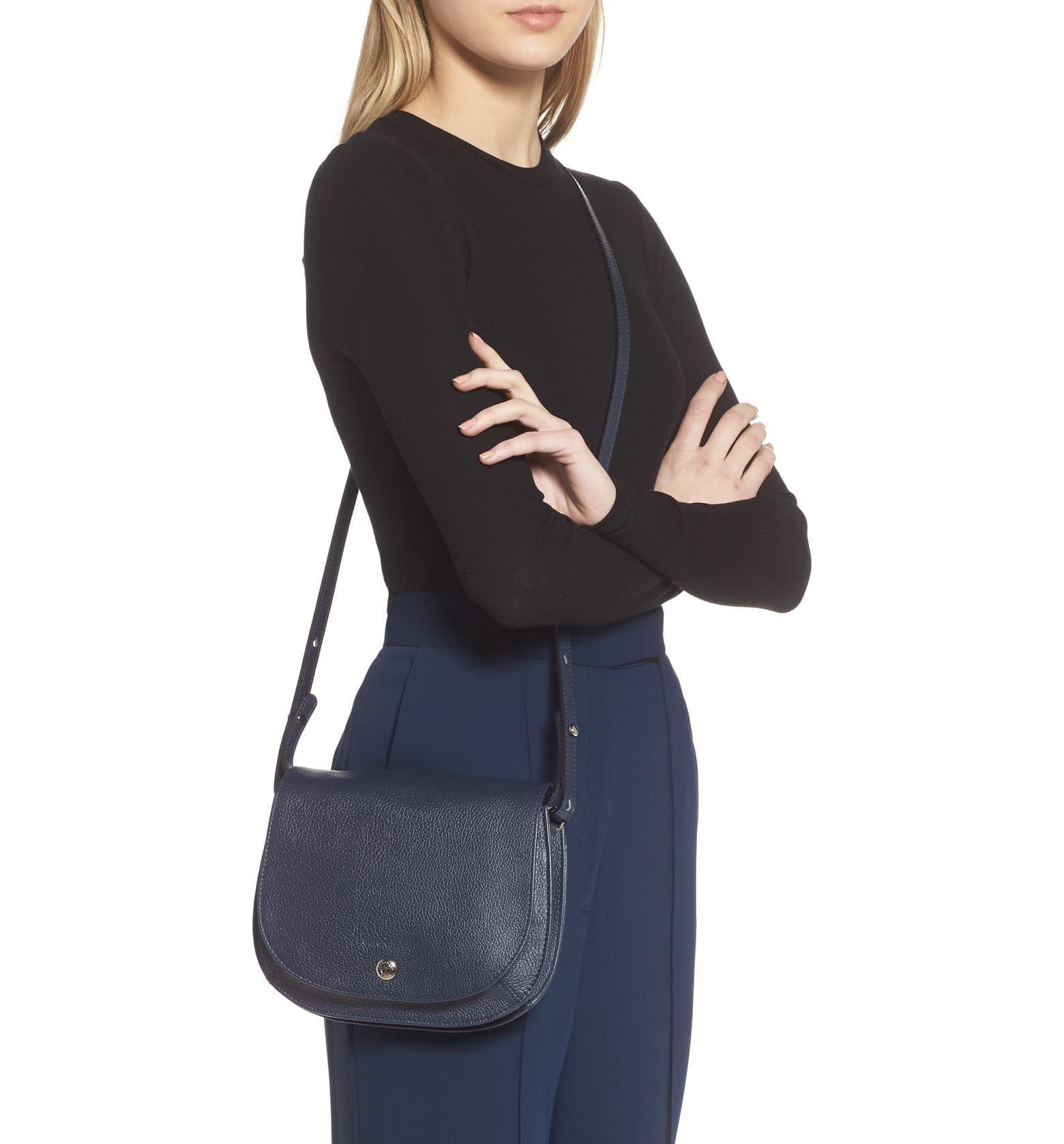 Longchamp Small Le Foulonne Leather Crossbody Bag | Nordstrom ...