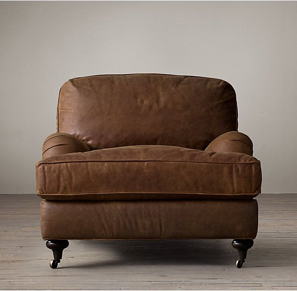 english roll arm chair and a half recliner outdoor chairs uk leather restoration hardware this is but less bulky style than the other pinned lots of