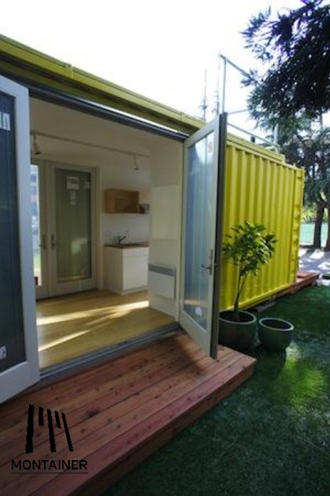 Creative Tiny House  Tiny Container Home. made from a shipping container.  Shipping container homes. Also could be a backyard art studio or office or  guest ...