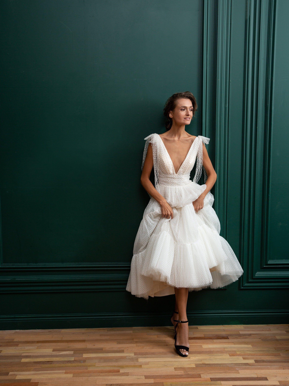 Short Wedding Dress Ivory Deep V Neck Open Back Simple Etsy In 2020 Short Wedding Dress Midi Wedding Dress Ivory Wedding Dress [ 3000 x 2250 Pixel ]