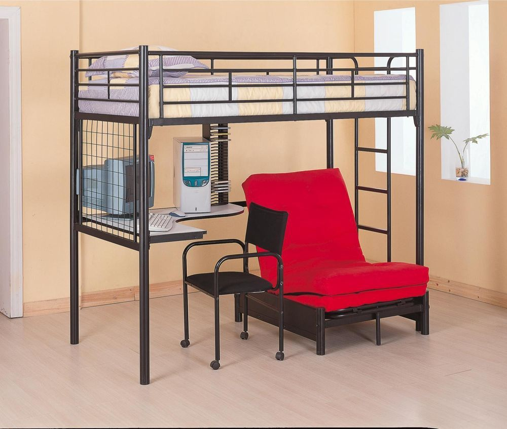 twin workstation loft bed bunk bed with futon and desk bunkbed twin workstation loft bed bunk bed with futon and desk bunkbed      rh   pinterest