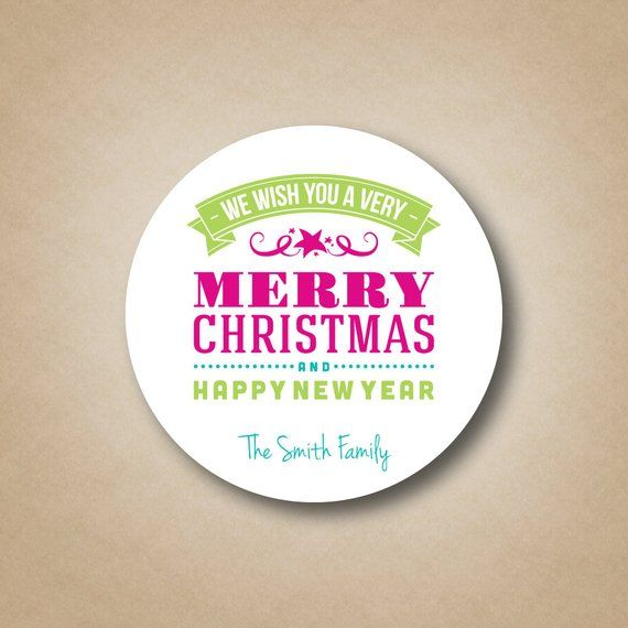 merry christmas and happy new year stickers modern christmas gift labels modern holiday label sticke
