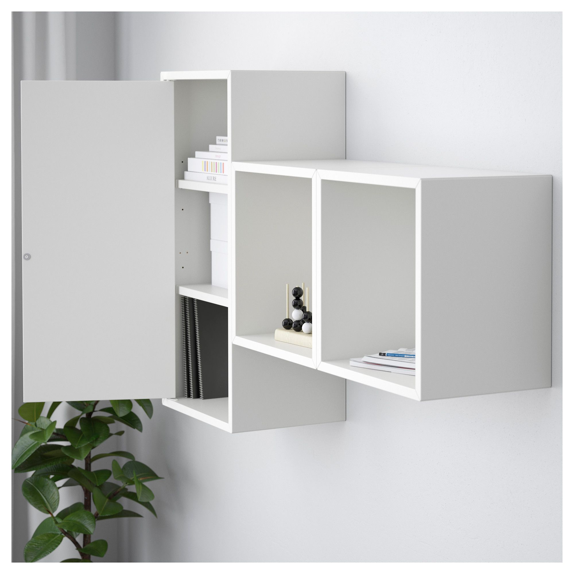 Best Wall Mounted Cabinet Combination Eket White Ikea Ikea 400 x 300