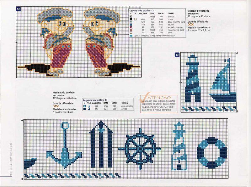 Bordados da Dani: barcos,ancoras,marinheiros | Proyectos marinos ...