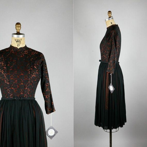 Amour | #Vintage #50s #60s Party Dress | Silk + Chiffon by danevintage