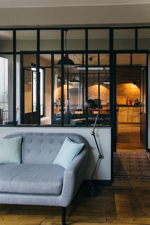 la verri re dans la cuisine 19 id es photos deco pinterest verriere style industriel. Black Bedroom Furniture Sets. Home Design Ideas