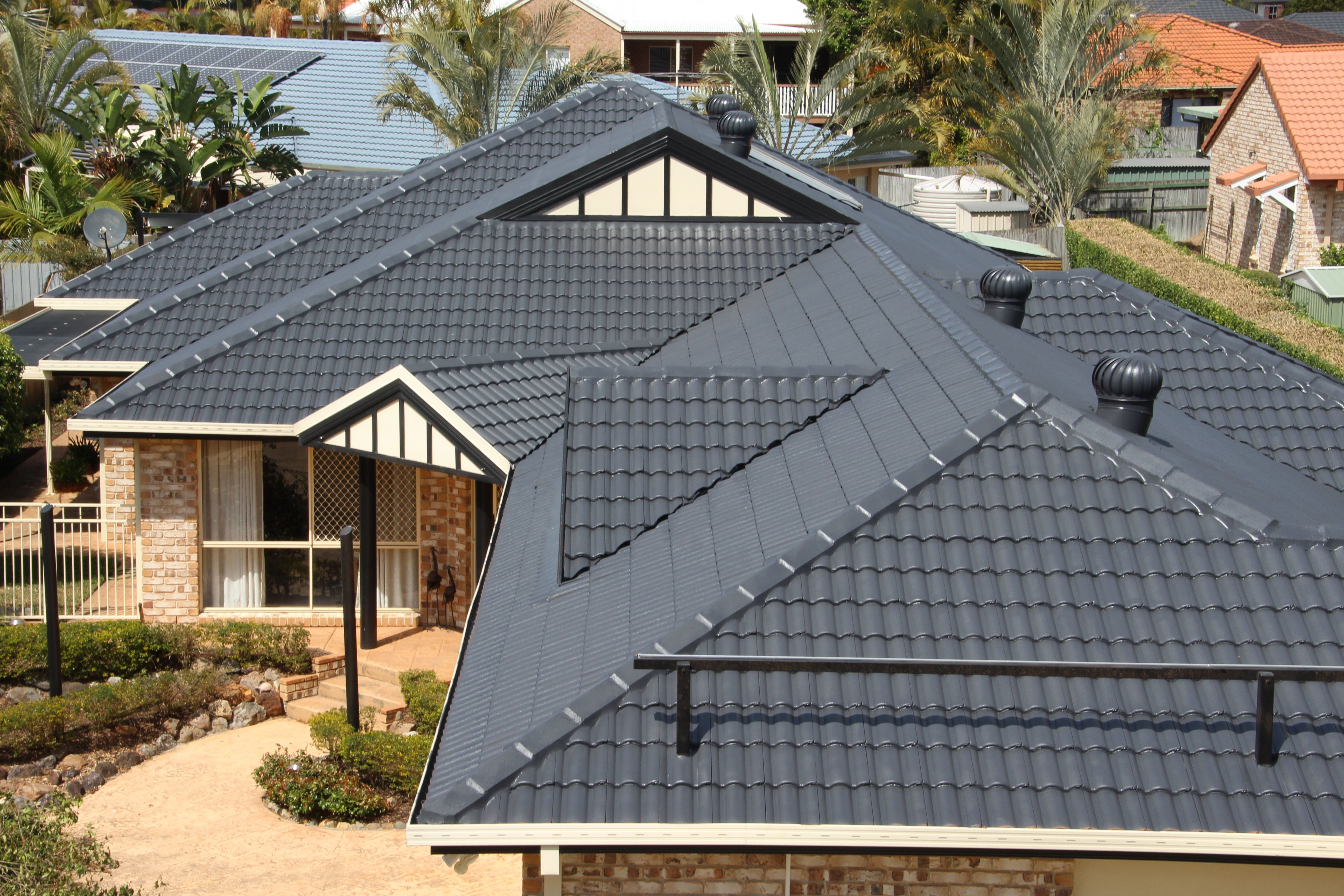 Finished In Colour Charcoal Diy Renovation Roofing Painting Exteriors Roof Restoration Painting Tile Renovations