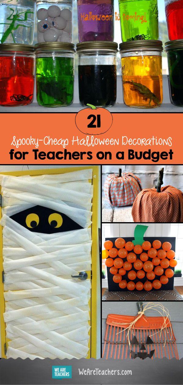 21 Spooky-Cheap Halloween Decorations for Teachers on a Budget