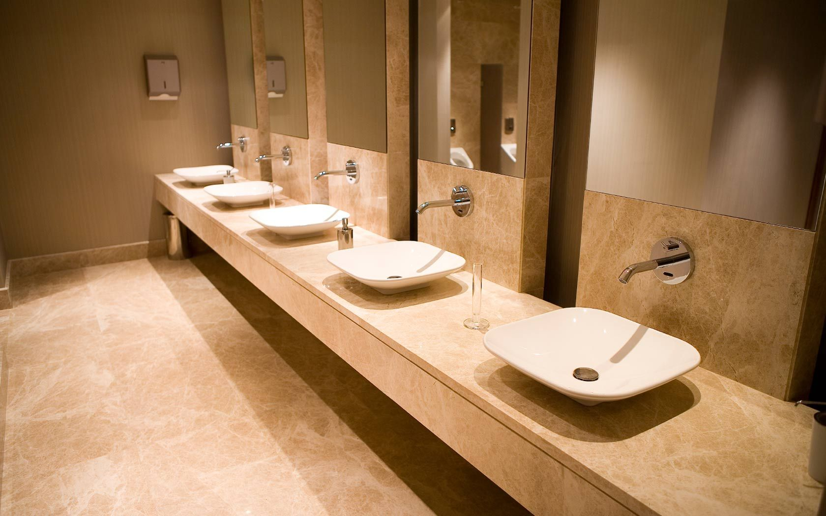 Commercial Bathroom Design Ideas Oriental Bowls W Wall Mounted Faucets  Commercial Rest Room