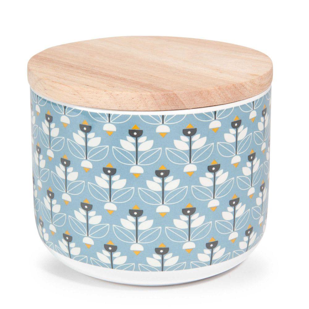 Pot en faïence bleue H 8 cm PORTOBELLO ... | Decorate|Kitchen ...
