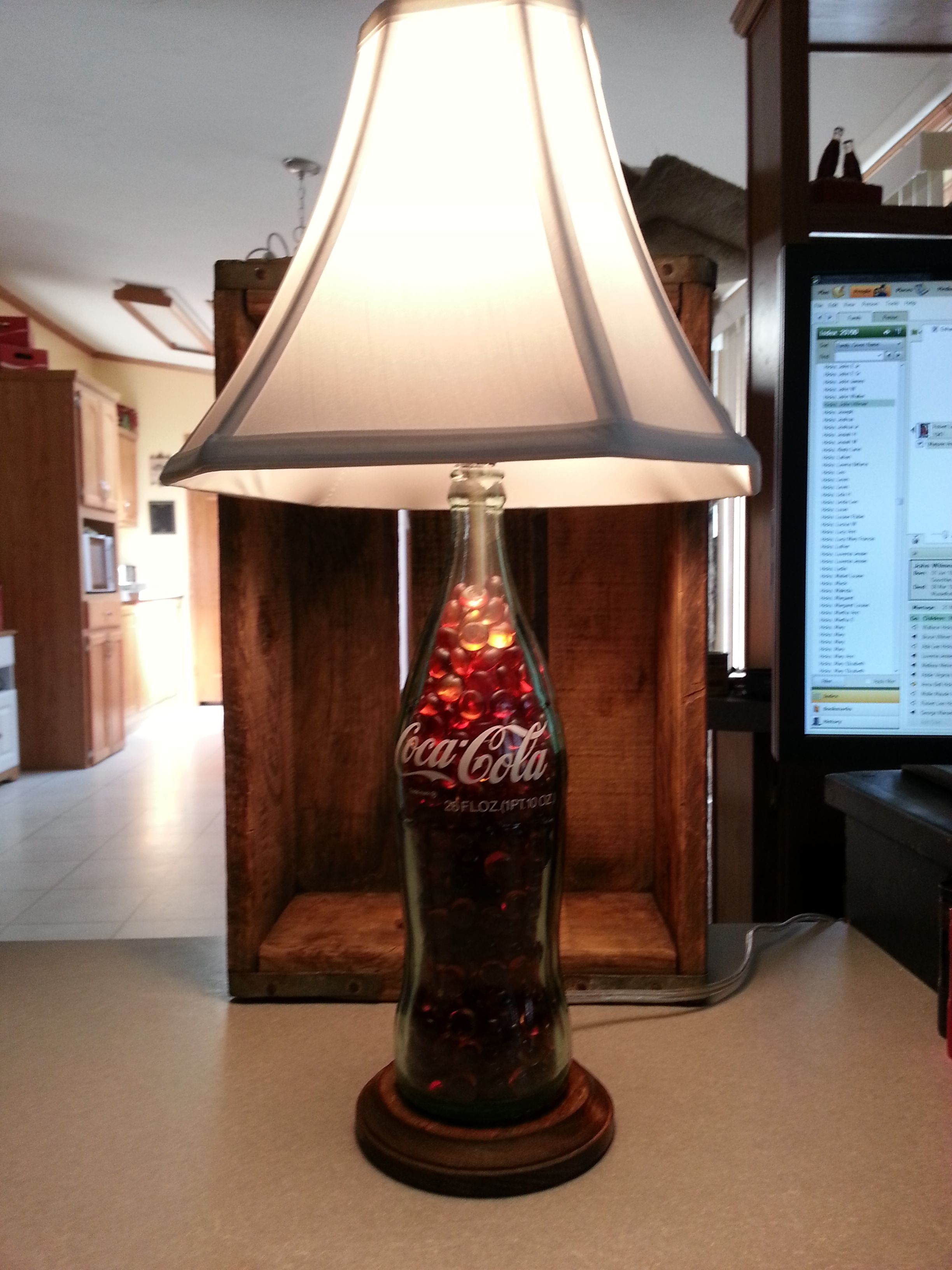 Home Made Lamp Out Of 1960S Coke Bottle