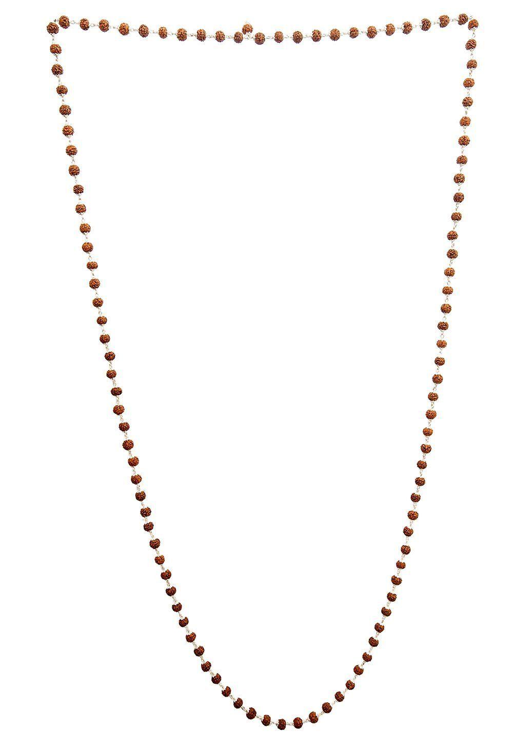 Rudraksha mala rosary beads for chanting sterling silver