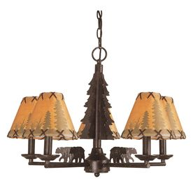 Lowes Bel Air Lighting 5 Light Bronze Chandelier Kitchen