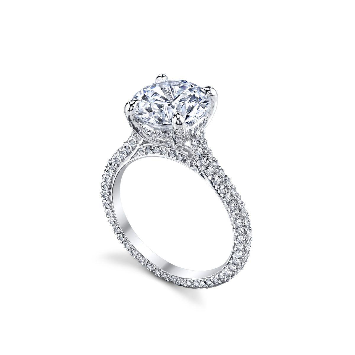 Michael B Paris Pave Diamond Engagement Ring Marshall Pierce Chicago Jewelry Rings Engagement Pave Engagement Ring Dream Diamond Ring