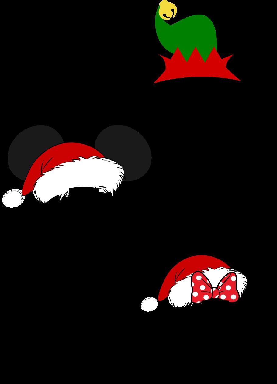 Beautiful Mickey Santa Hat Monogram SVG set for Christmas