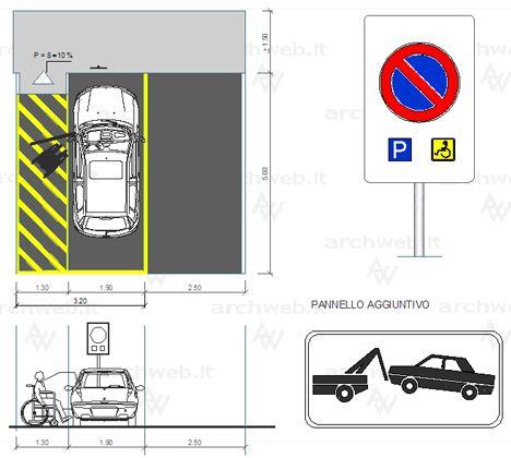 parcheggio disabili misure - Cerca con Google