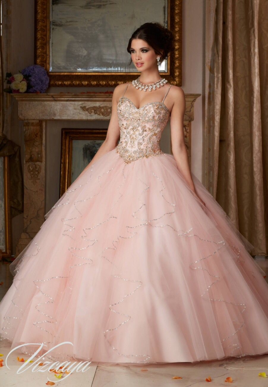 Beautiful Pink Gown Sweetheart With Straps En 2019 15 Años