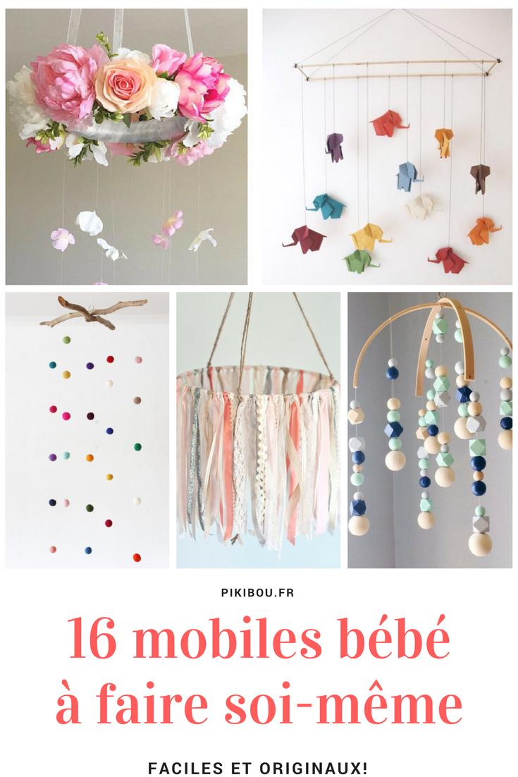 Deco Bebe A Faire Soi Meme diy bricolage : 16 idées de mobiles pour bébé à faire soi