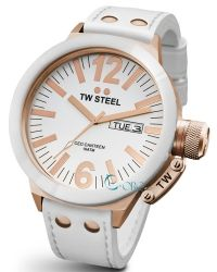 TW STEEL Ceo Canteen Rose Gold White Leather Strap CE1036 - http://rologia.org/tw-steel-ceo-canteen-rose-gold-white-leather-strap-ce1036/
