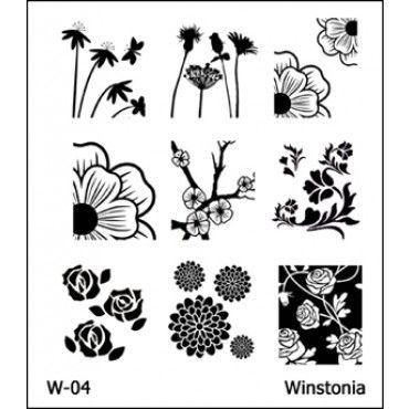 Winstonia Nail Art Stamping Image Plate Series 1