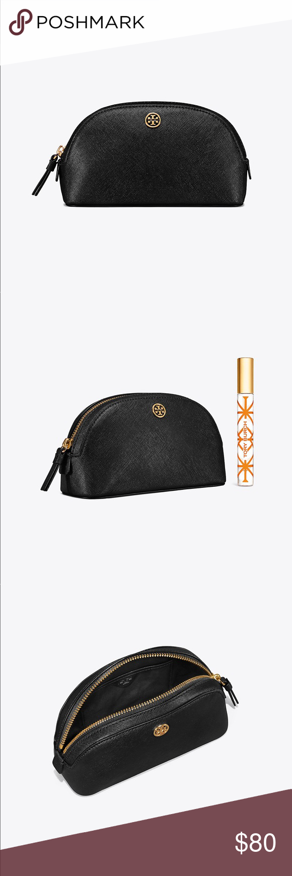 a7d618475c4e NWT Tory Burch Robinson Small Makeup Bag - Black NWT! Tory Burch Bags