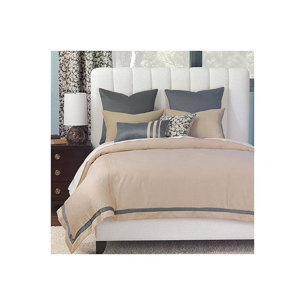 Dempsey Comforter - Super King, Hand Tacked ($650) ❤ liked on Polyvore featuring home, bed & bath, bedding, comforters, interior textiles, top of bed, striped comforter, striped twin comforter, california king comforter and queen comforter