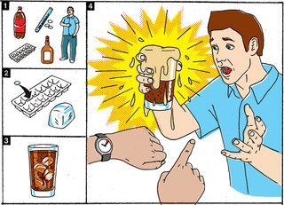 Frozen Mentos and Coke Parlor Trick