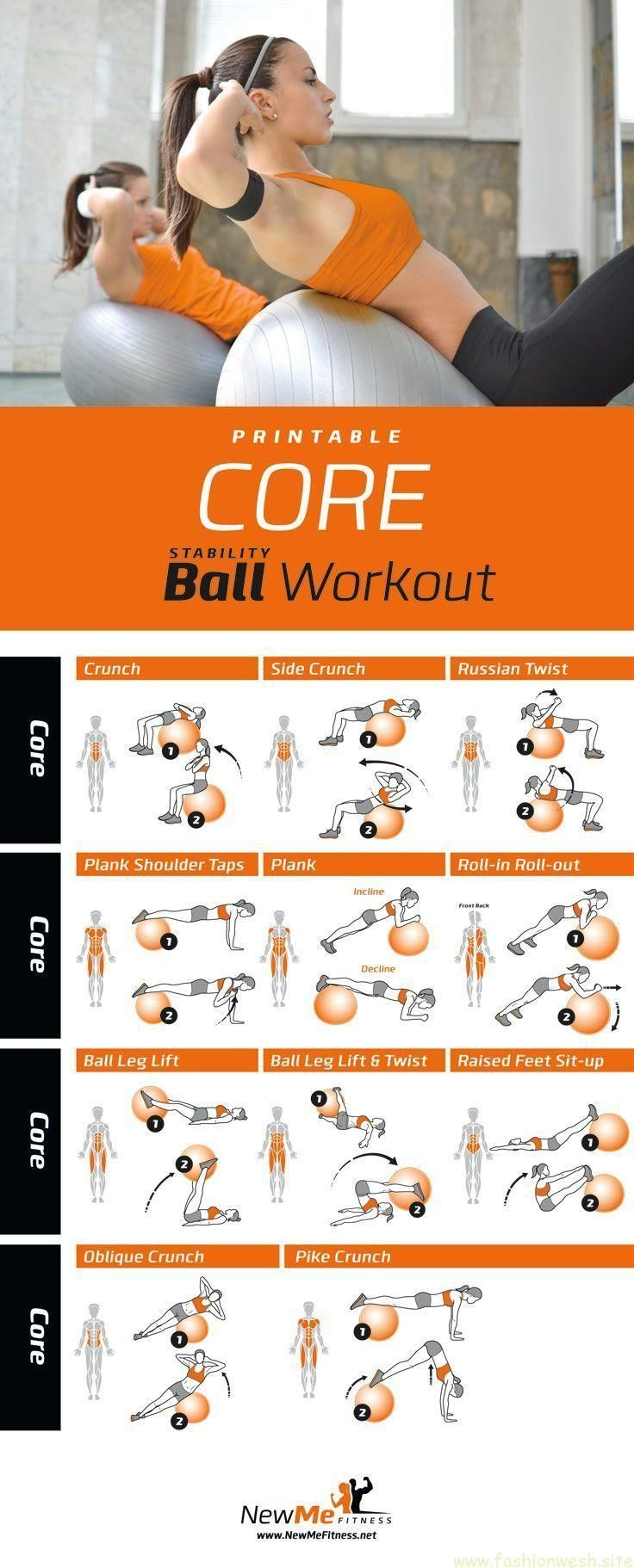 Stabilität Ball Core Workout, abs sind soooo wund! #corepilates