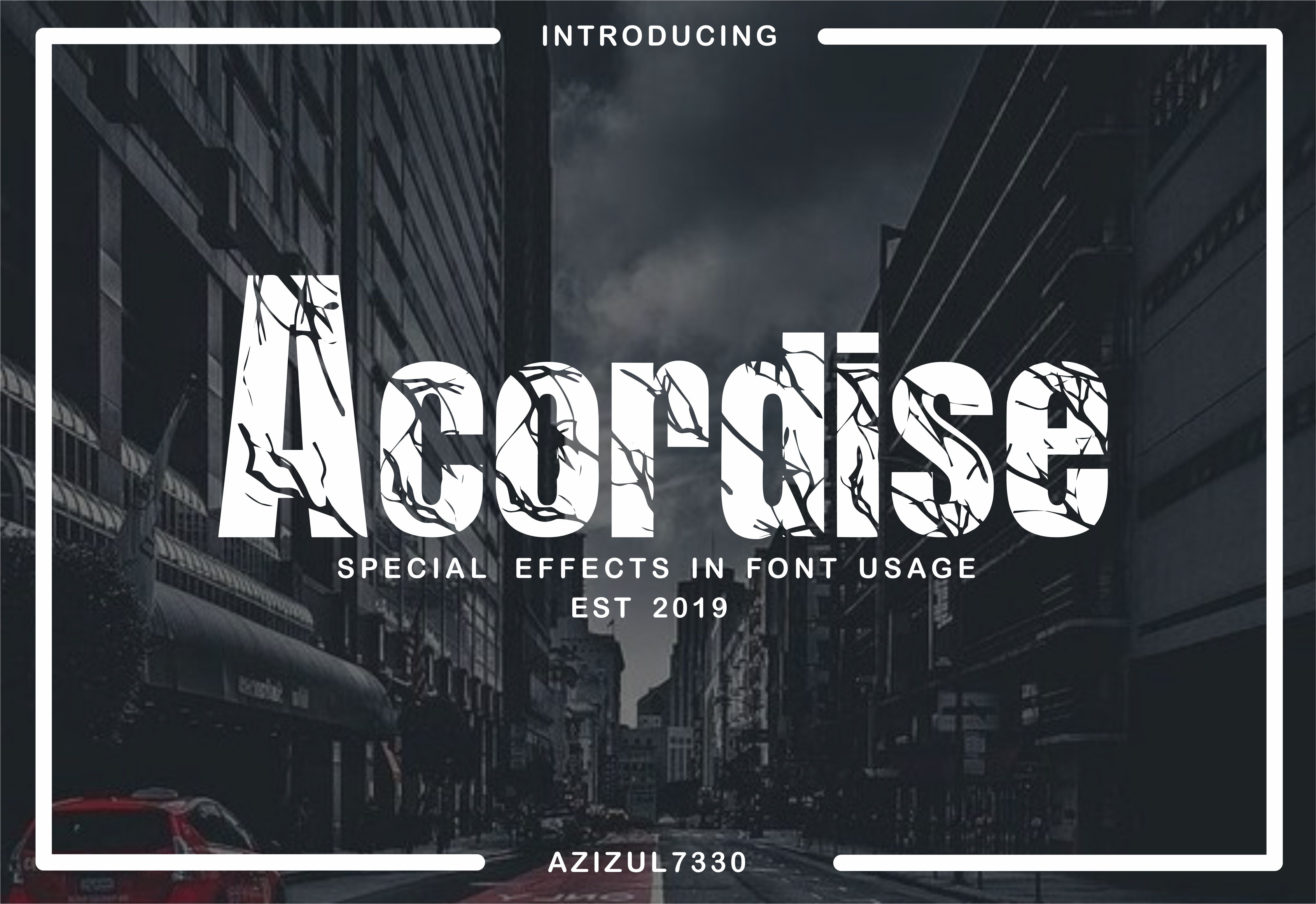 Acordise (Font) by azizul7330 · Creative Fabrica
