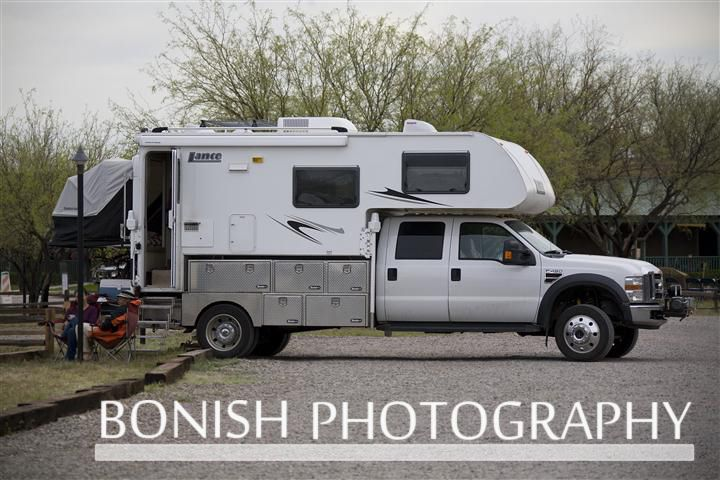 Full Size Dodge With Flat Bed Four Wheel Camper