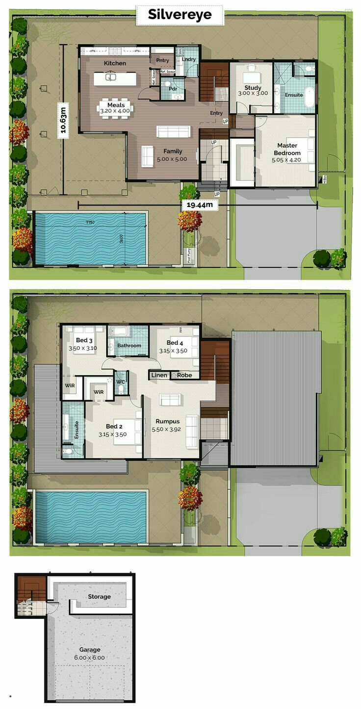 Pin By Sharon On Casa Hijos House Plans Home Design Floor Plans Sloping Lot House Plan