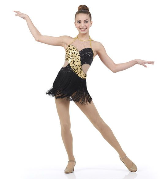 Nocturnal Dance Costume Animal Print Fringed Leotard Tap Clearance Child