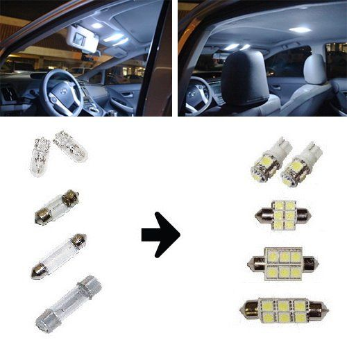 Ijdmtoy Premium Smd Led Lights Interior Package Combo For 2004 2008 Ford F150 Supercab Or Supercrew Xenon Ford Trucks New Trucks Subaru Crosstrek Accessories