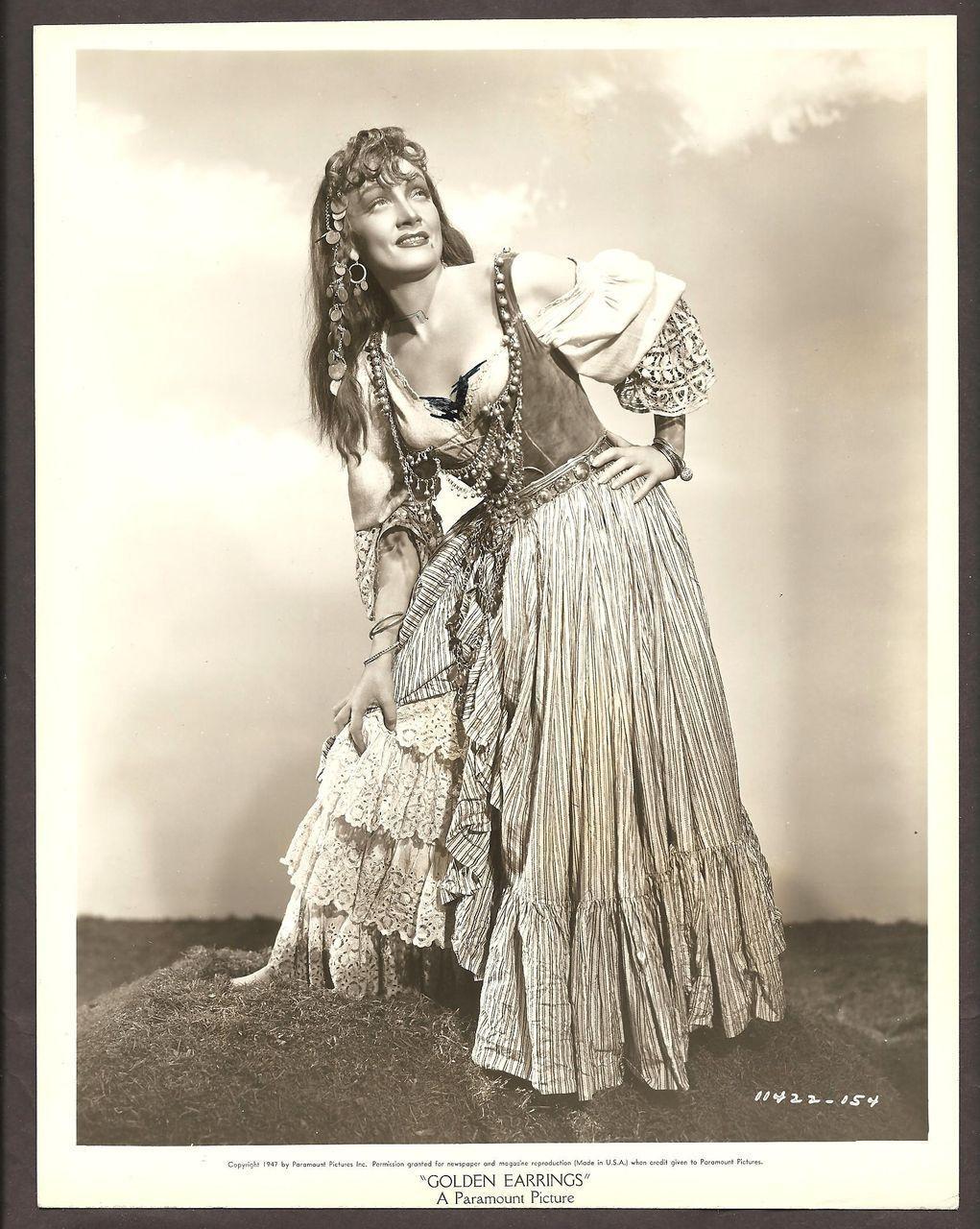 Marlene Dietrich Movie Photo Golden Earrings