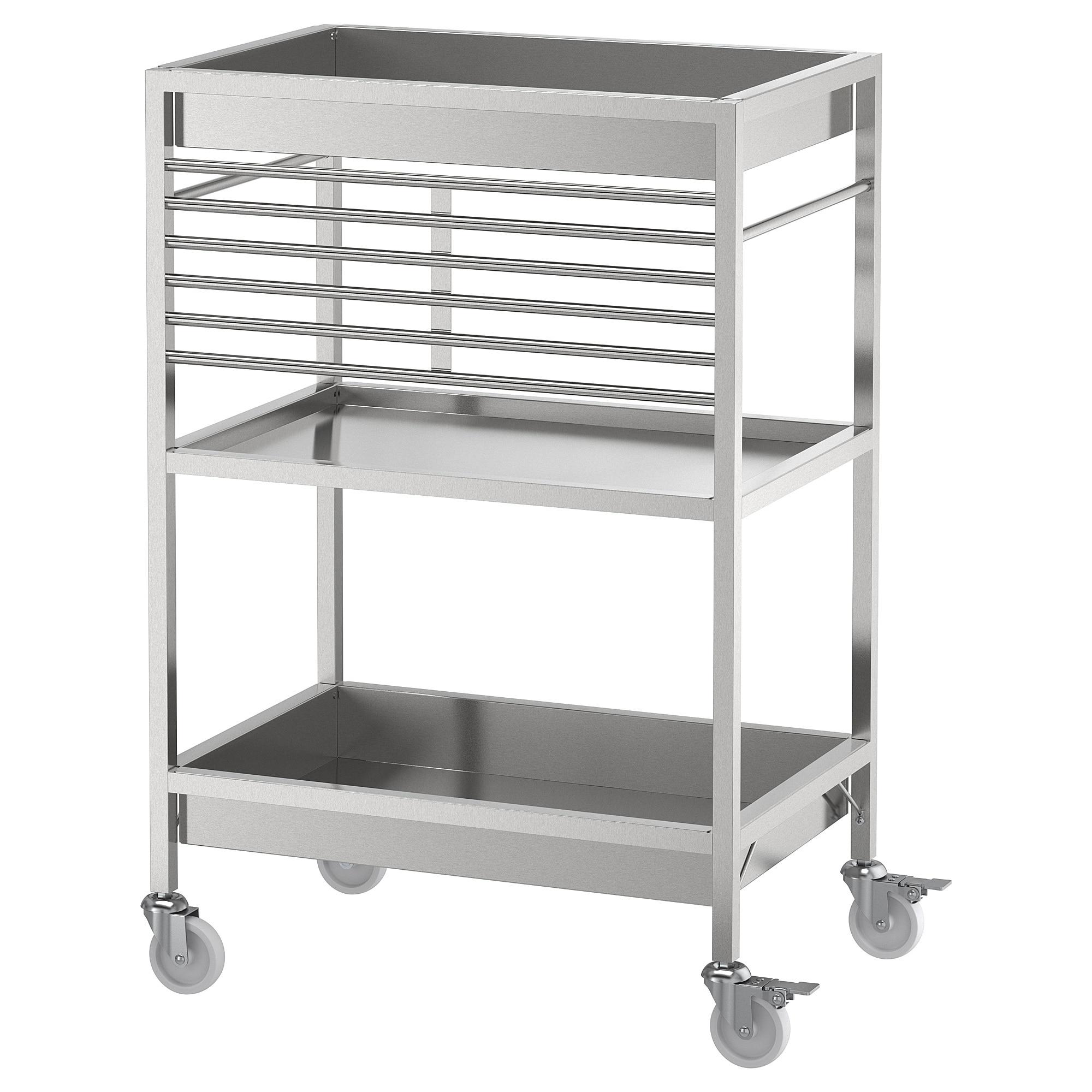 Kungsfors Kitchen Cart Stainless Steel Ikea Kitchen Cart