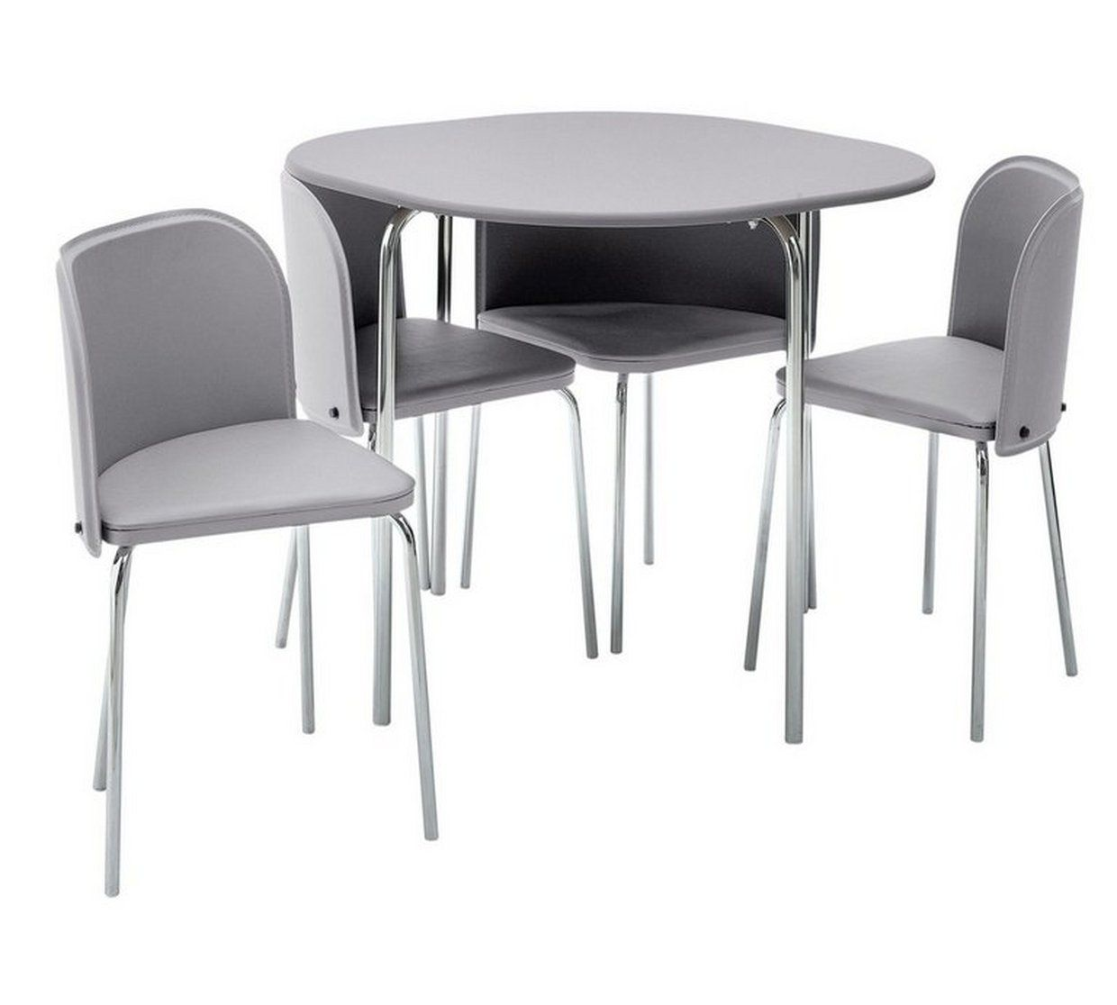 Buy Argos Home Amparo Grey Dining Table & 9 Grey Chairs   Dining ...