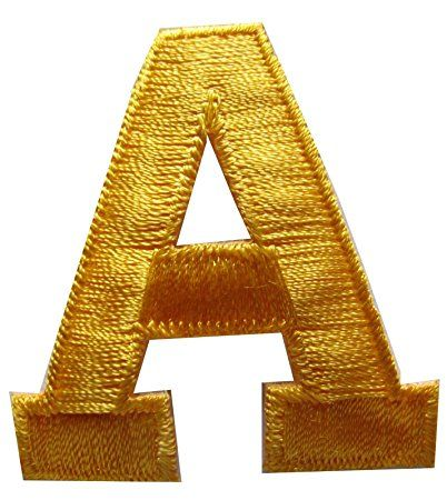 Embroidered Letters, Iron on Letters, Metallic Letters Patches, Letters  Applique, Sew on